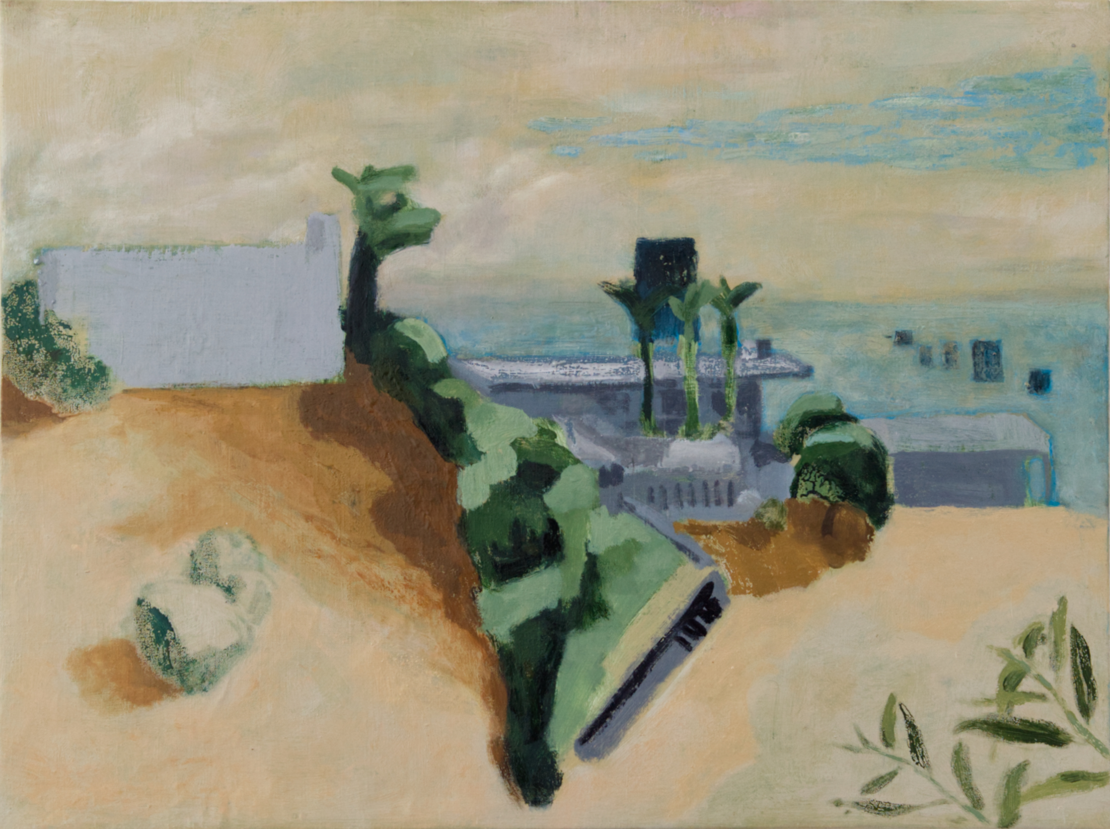 Painting of a View from Griffith park by Nils Benson