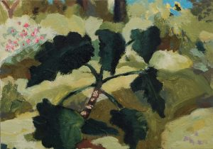 Image of painting of botanical garden by Nils Benson