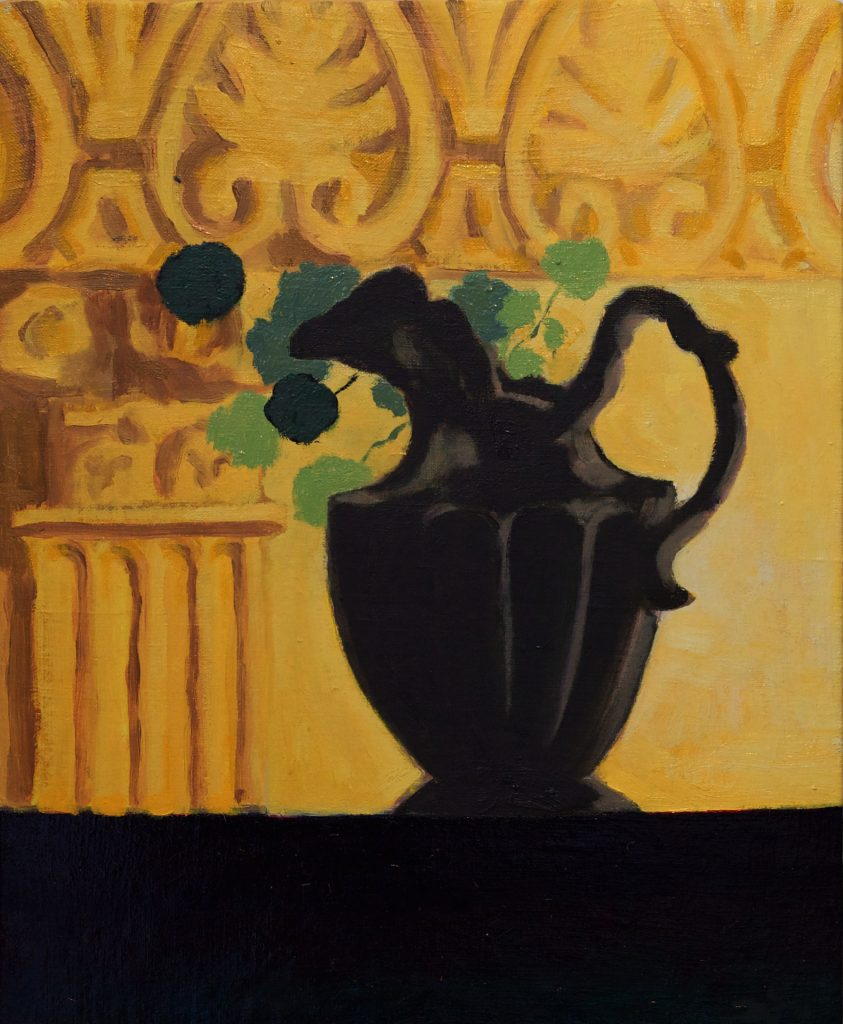 nasturtium And Vase oil on canvas